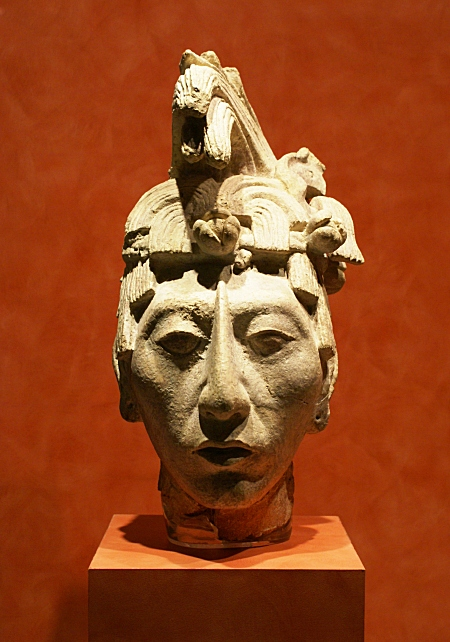 Head of a young Maya noble