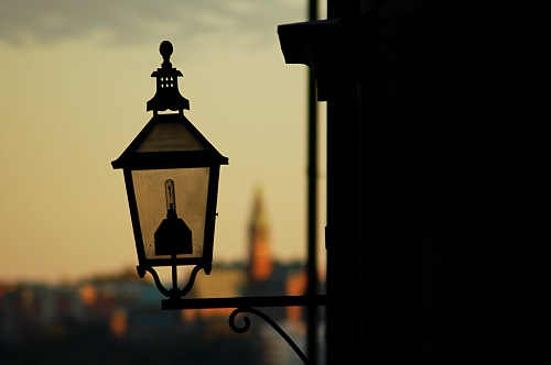 Lantern in Gamlastan - Stockholm